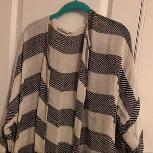 Sweaters - Striped duster sweater
